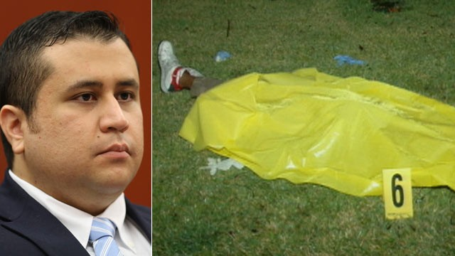 George Zimmerman/ Trayvon Martin Covered with Yellow Blanket