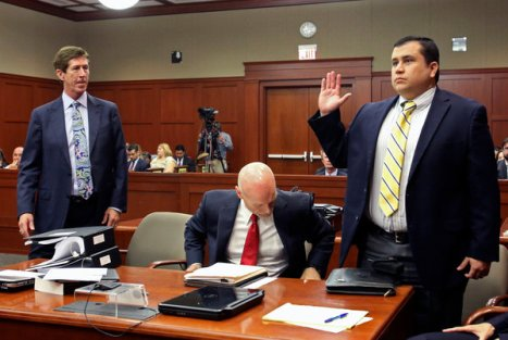 Mark O'Mara and George Zimmerman Standing Up