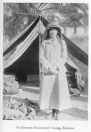 GERTRUDE BELL AT CAMP
