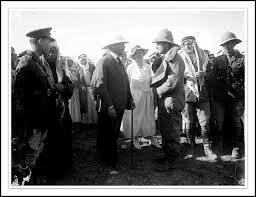Sir Herbert Samuel and Emir Abdullah (later king)