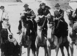 Gertrude Bell with Winston Churchill and T.E. Lawrence ( Lawrence of Arabia)