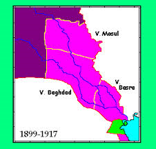 Map of Iraq in 1917