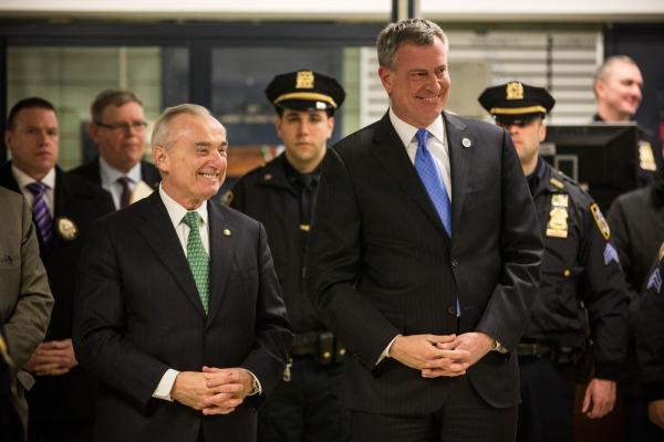 Police Commissioner William Bratton and Mayor Bill deBlasio