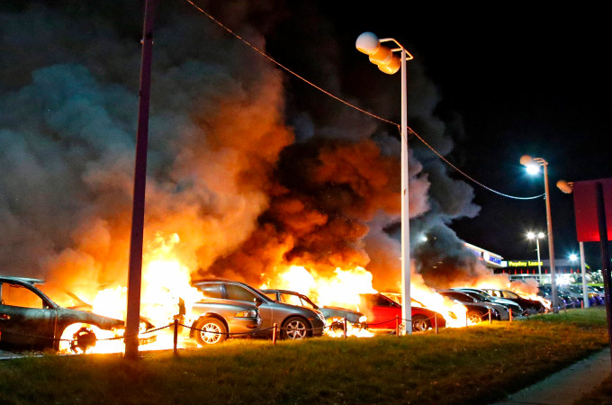 Violence during Ferguson, MO protests