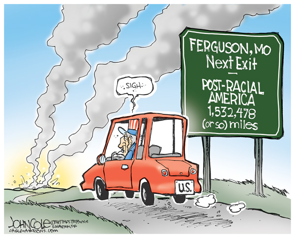 081714coletoon post racial america ferguson
