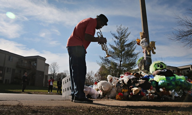 MICHAEL BROWN'S MEMORIAL TELLS THE STORY