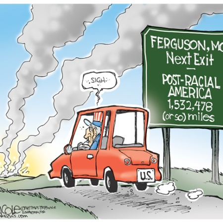 081714coletoon post racial america ferguson