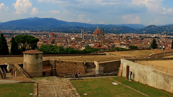 View from top of Forte Belvedere, near Palazzo Pitti