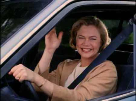 "Kathleen Turner in the movie, ""Serial Mom"" would be an example but without the criminal element."