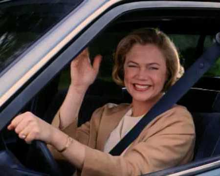 """Kathleen Turner in the movie, """"Serial Mom"""" would be an example but without the criminal element."""