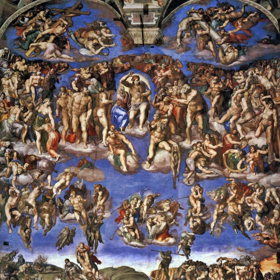 The Last Judgement, is a fresco by the Italian Renaissance artist Michelangelo painted on the altar wall of the Sistine Chapel.
