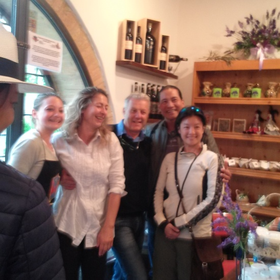 Silvano in the middle and Rita (left) of Casanova & Sant'Agnese Farms Societa' Agricola Castellina in Chianti Siena Tuscany Phone: +39 335 6150760 - E-mail: info@tenutacasanova.it - P.IVA: IT-01345740524 -