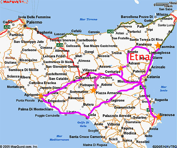 PREPLANNING FOR 2016 TRIP TO SICILY Gronda Morin – Sicily Tourist Map