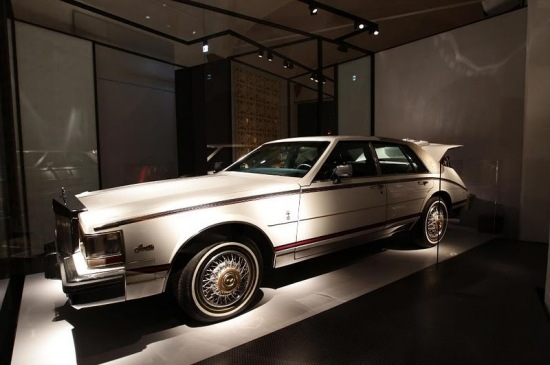 Cadillac Seville on display at the Gucci Museo.