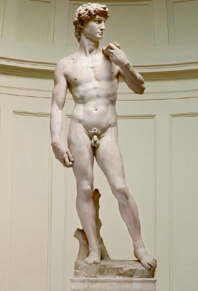 Michelangelo's David at the Accademia Gallery