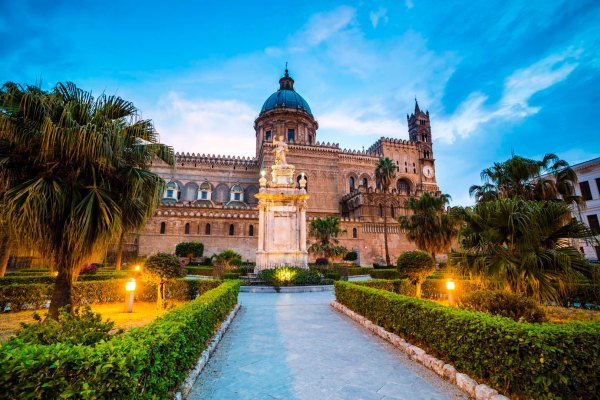 Palermo at night, Palermo Cathedral (Duomo di Palermo)