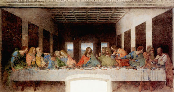 Photo of Da Vinci's Last Supper found on the internet