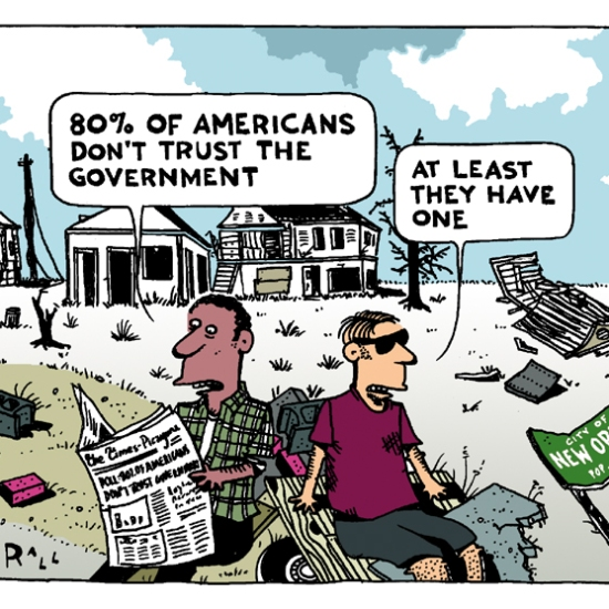 80% of Americans tell pollsters they distrust the government.