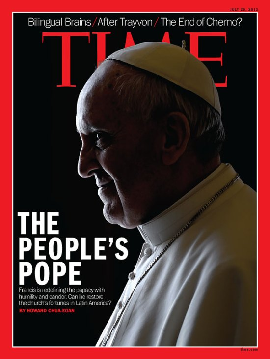 JULY 2013 PHOTO OF POPE FRANCIS