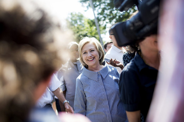 HILLARY CLINTON AT IOWA STATE FAIR