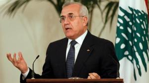 Lebanese President Michel Sleiman who stepped down in 2014
