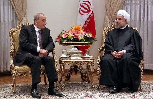 Lebanese Parliament Speaker, Nabih Berri and Iran's President Hassan Rouhani
