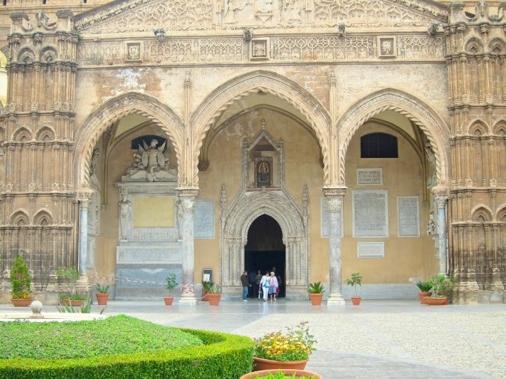 THE PORTICO OF THE PALERMO CATHEDRAL