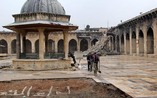 Aleppo mosque in Syria