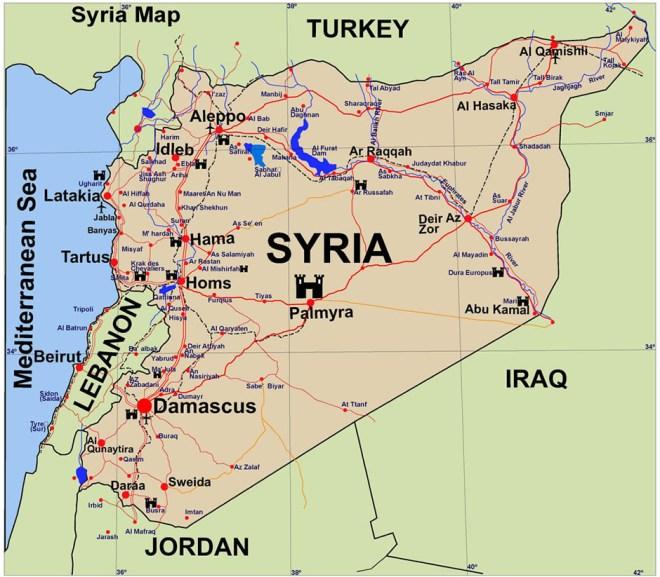 Map of Tartus, Latakia.