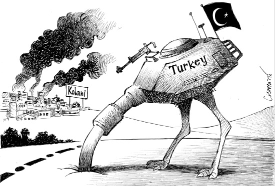 untitled turkey head in ground v kobani and kurds
