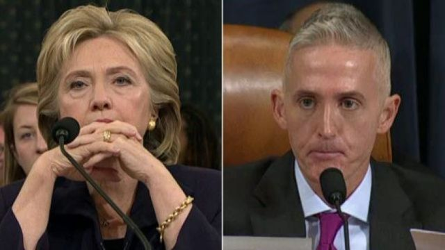 HILLARY CLINTON AND TREY GOWDY