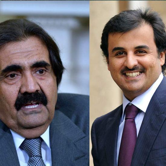 Sheikh Hamad bin Khalafi Al Thani and Sheikh Tammin bin Hamad Al Thani