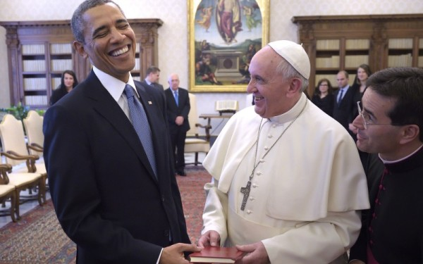 Pope Francis and President Obama
