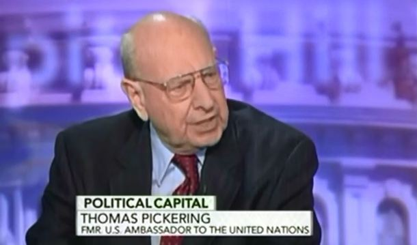 Former US Ambassador to the UN (40 year career) Thomas R. Pickering