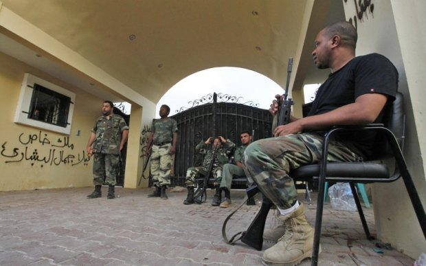 Libyan 17 February Militia guards