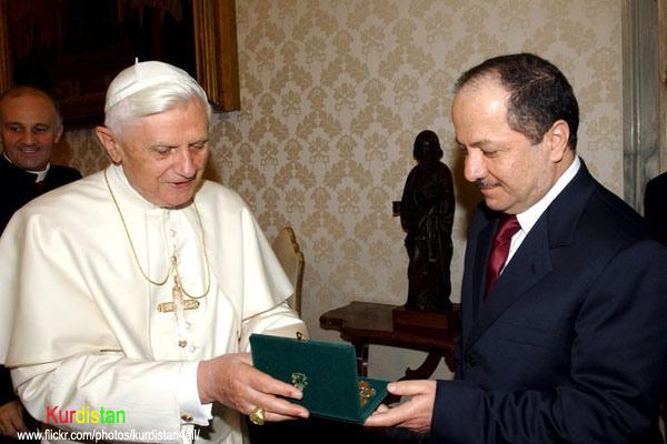 Pope Benedict XVI and Kurdistan President Massoud Barzani