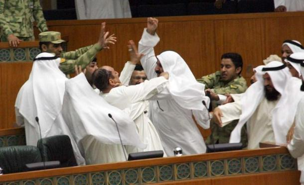 Kuwait MP's in deliberations.
