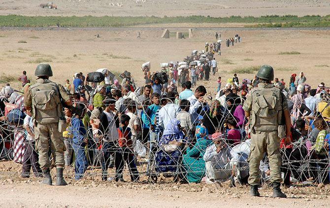 SYRIAN REFUGEES POURING INTO KURDISTAN
