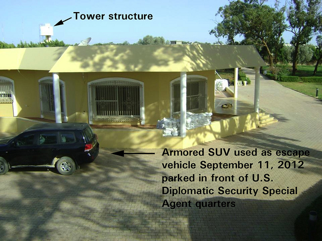 8147128385_7db5151030_z BENGHAZI TOWER STRUCTURE AMORED SUV