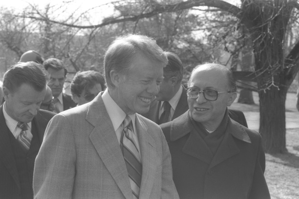 President Carter and Israeli Prime Minister Menachem Begin , from 1977-1983