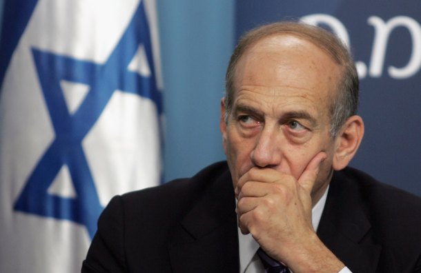 Israeli Prime Minister Ehud Olmert. (Photo by Baz Ratner-Pool/Getty Images)