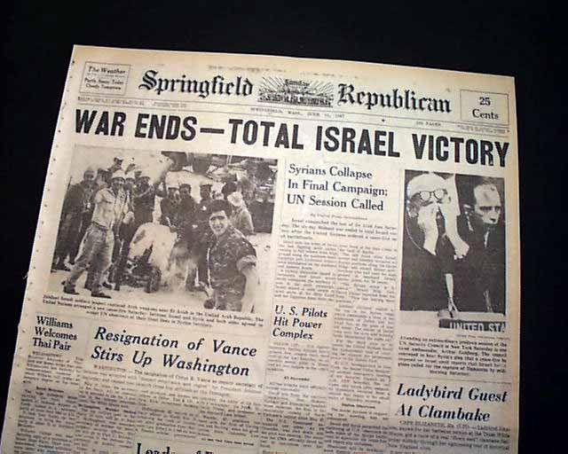 END OF SIX DAY WAR