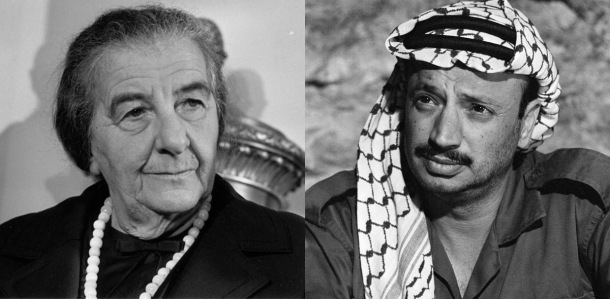 A Conversation between PM of Israel, Golda Meir and Palestine Leader, Yasser Arafat