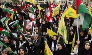 Hezbollah anti-Israel demonstration