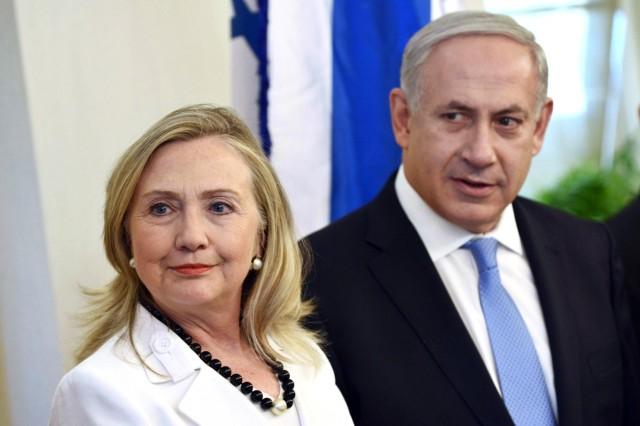 HILLARY CLINTON AND ISRAELI PRIME MINISTER, BENJAMIN NETANYAHU