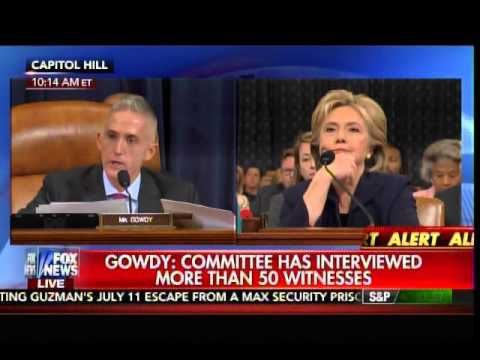 Select Committee top republican Trey Gowdy and former Sec. of State, Hillary Clinton