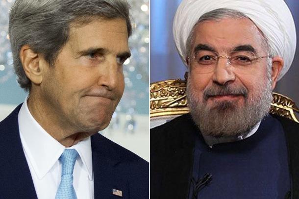 US SRCRETARY OF STATE, JOHN KERRY AND IRAN'S PRESIDENT HASSAN ROUHANI