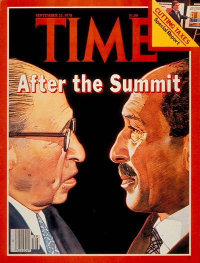 ISRAEL Menachem Begin AND ANWAR SADAT