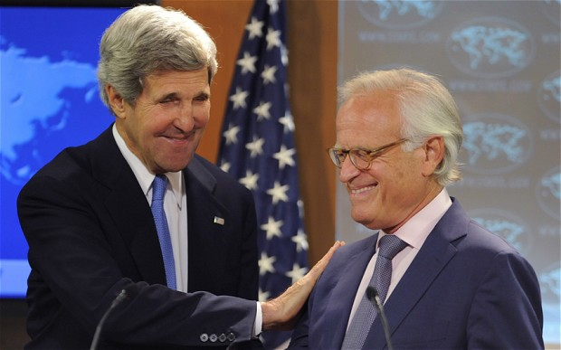 John Kerry and US Middle East Envoy, Martin Indyk