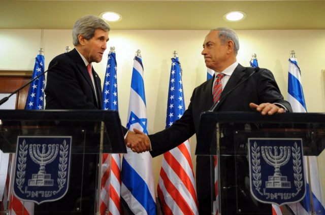 Secretary of State John Kerry and Israeli Benjamin Netanyahu